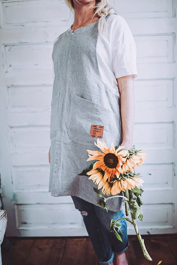 blue and Beige-ticking-linen-pinafore-apron