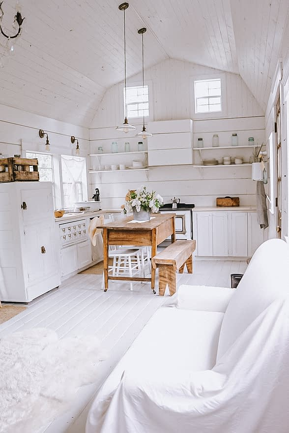 kitchen view of the tiny house