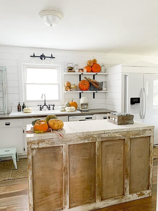 We lived Happily Ever After kitchen for fall