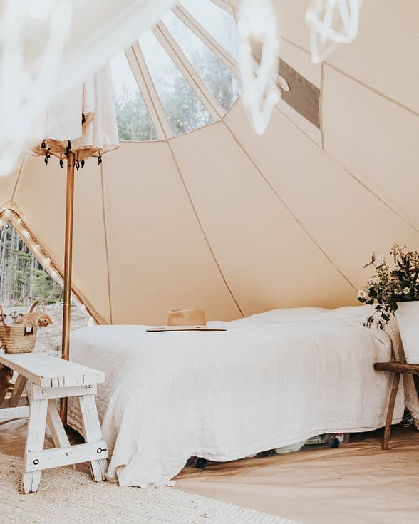 Bell Tent Bed Open Roof