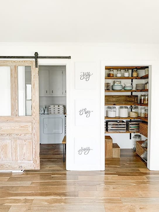 We lived Happily Ever After pantry view from the kitchen