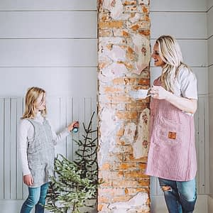 mommy and me linen apron