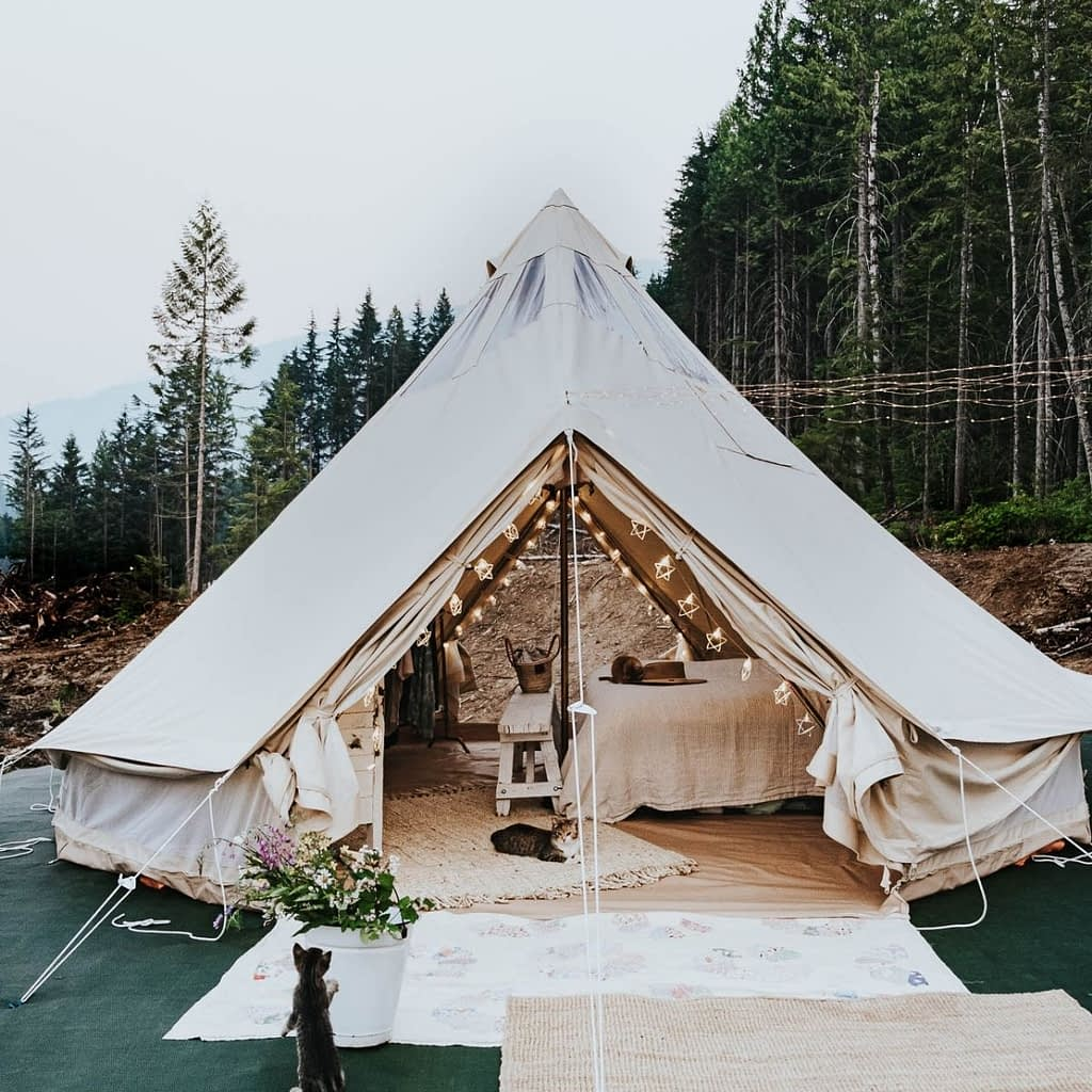 living in a bell tent