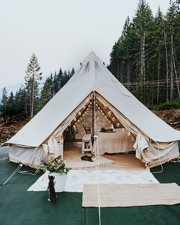 living in the bell tent