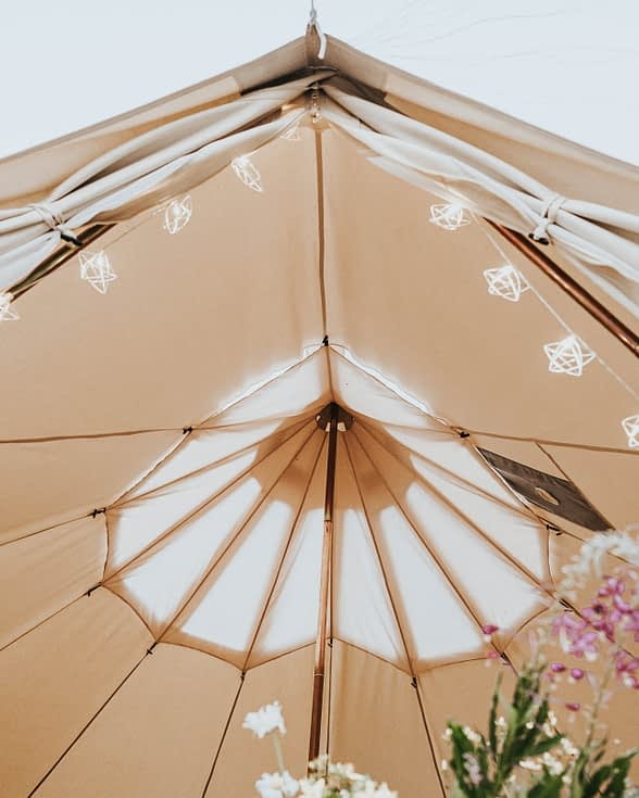 bell tent ceiling