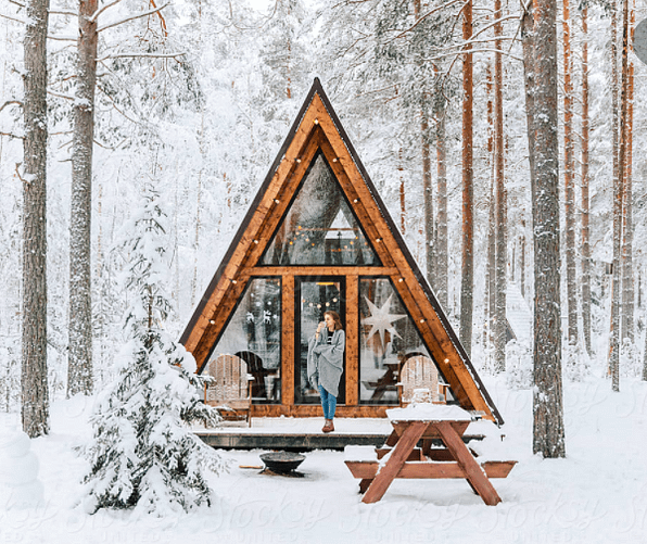 A frame cabin from Pinterest