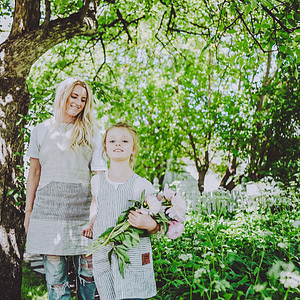 Mom and Me Linen Apron