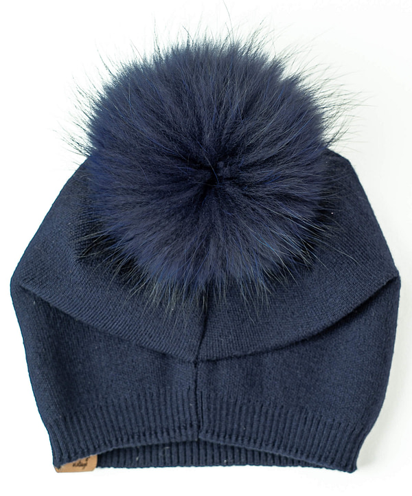 Slouchy Toque in Navy