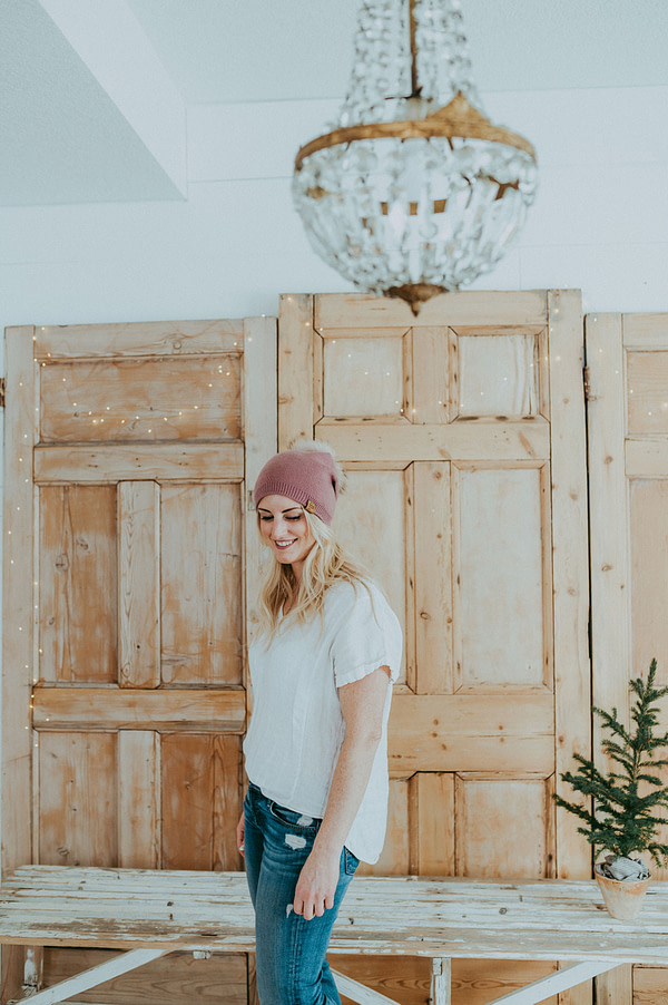 Pink Slouchy Toque