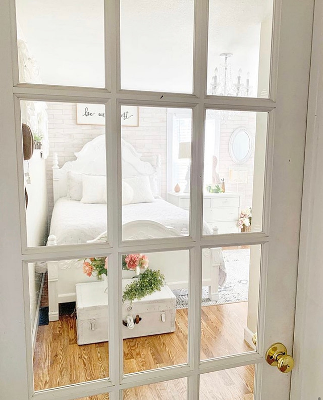 glass window door into guest room