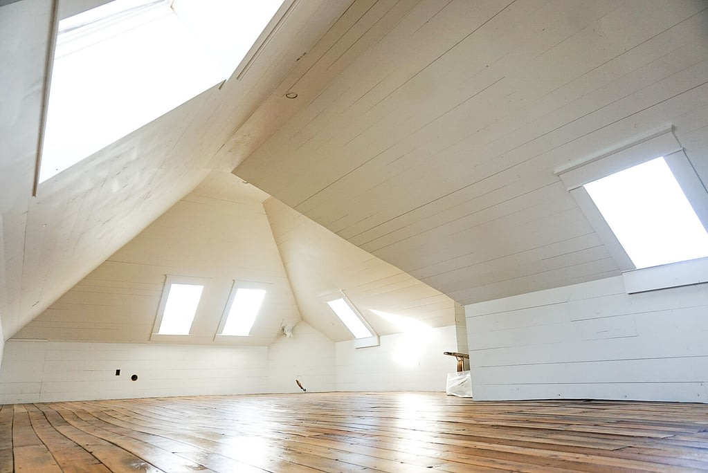 How to finish an attic space, shiplap