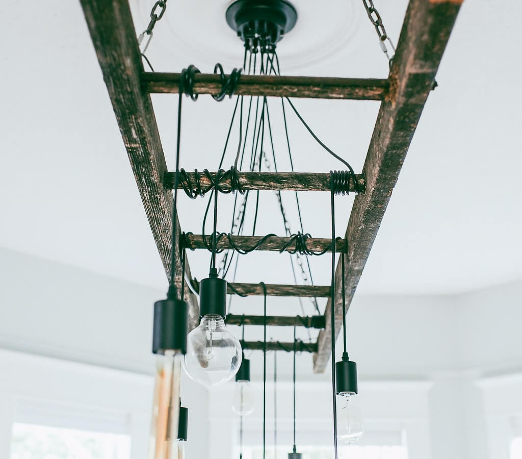 How To Make A Diy Industrial Edison Bulb Chandelier Vintage Society Co