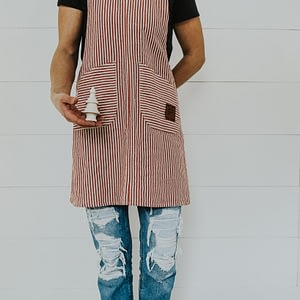 Red Ticking Pinafore
