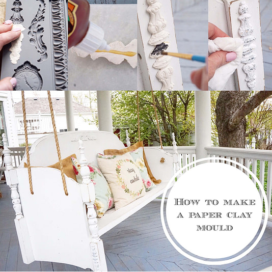 Paper-Clay-Mold-for-Porch-Swing