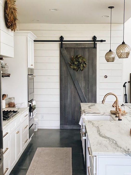 sliding barn door for pantry