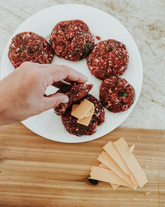 cheese centre bison burger recipe