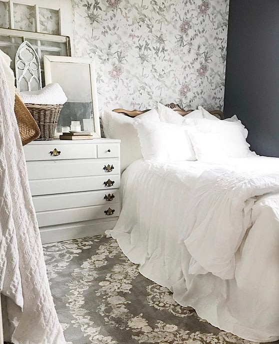french country farmhouse guest bedroom decor