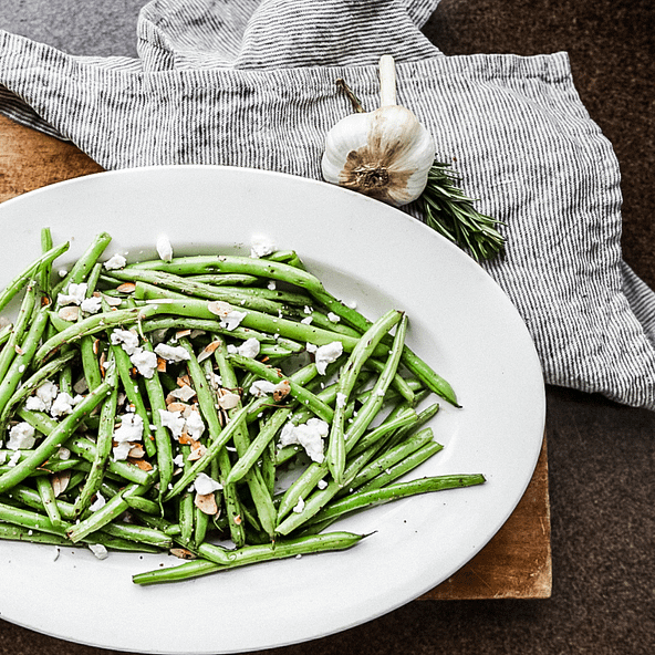sauteed green bean salad with feta cheese