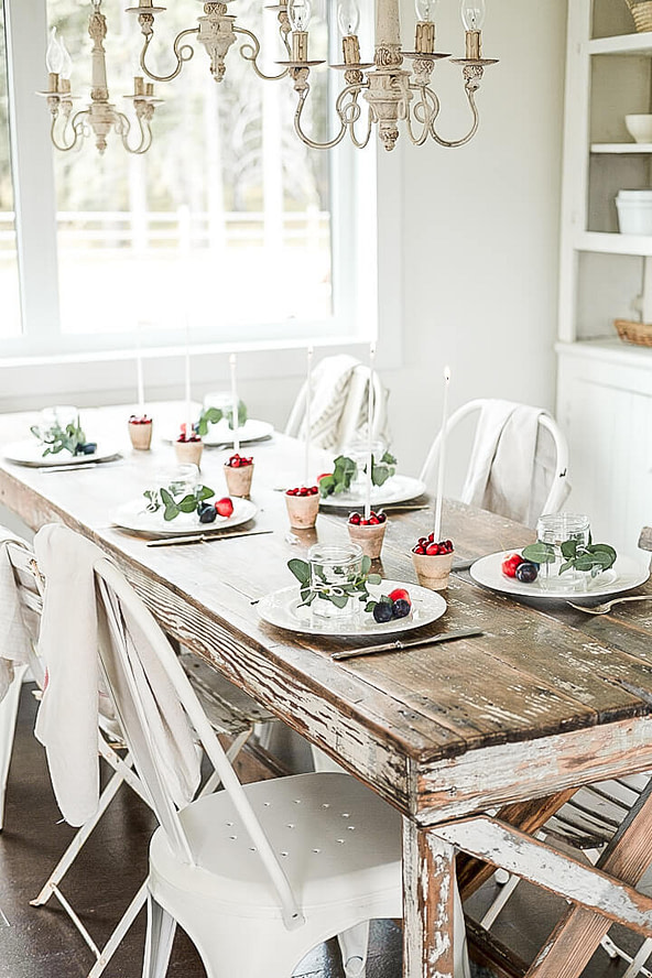 Fall Hygge Table Centrepiece