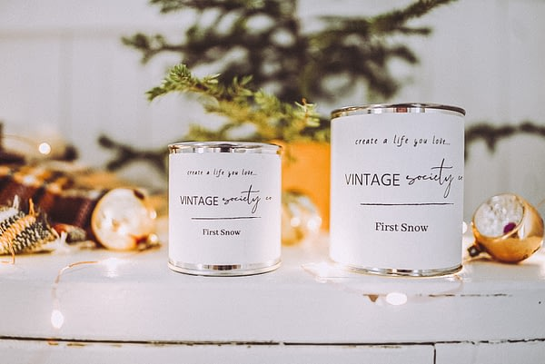 First snow candles 2