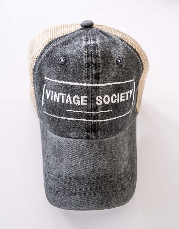 charcoal vintage society hat