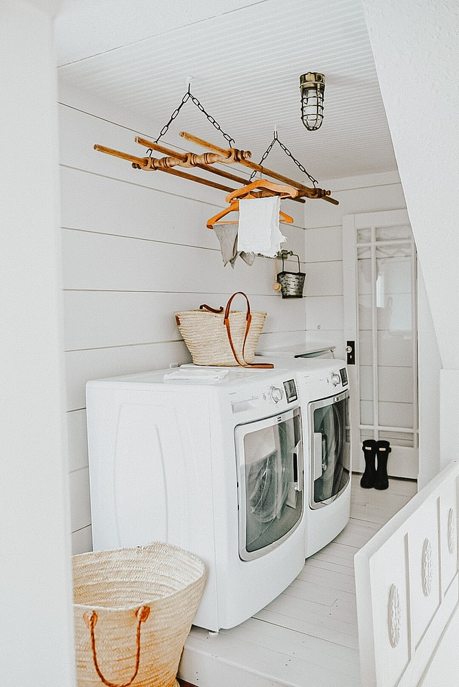 laundry room decor hanging rack