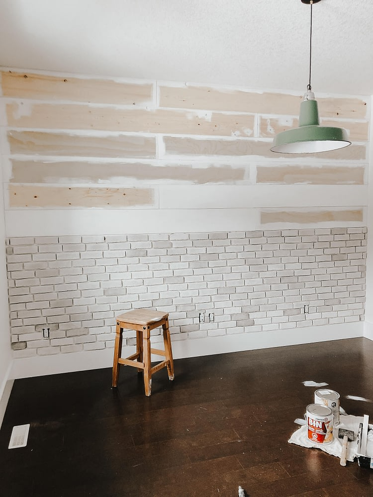 Thin Brick Wall Tutorial with paint spills on floor