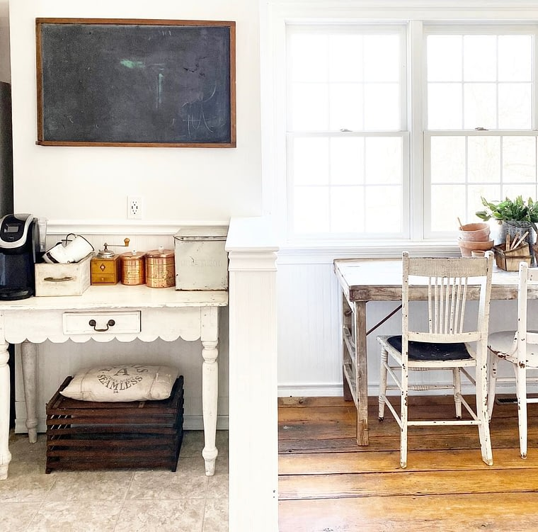 little white farmhouse office space
