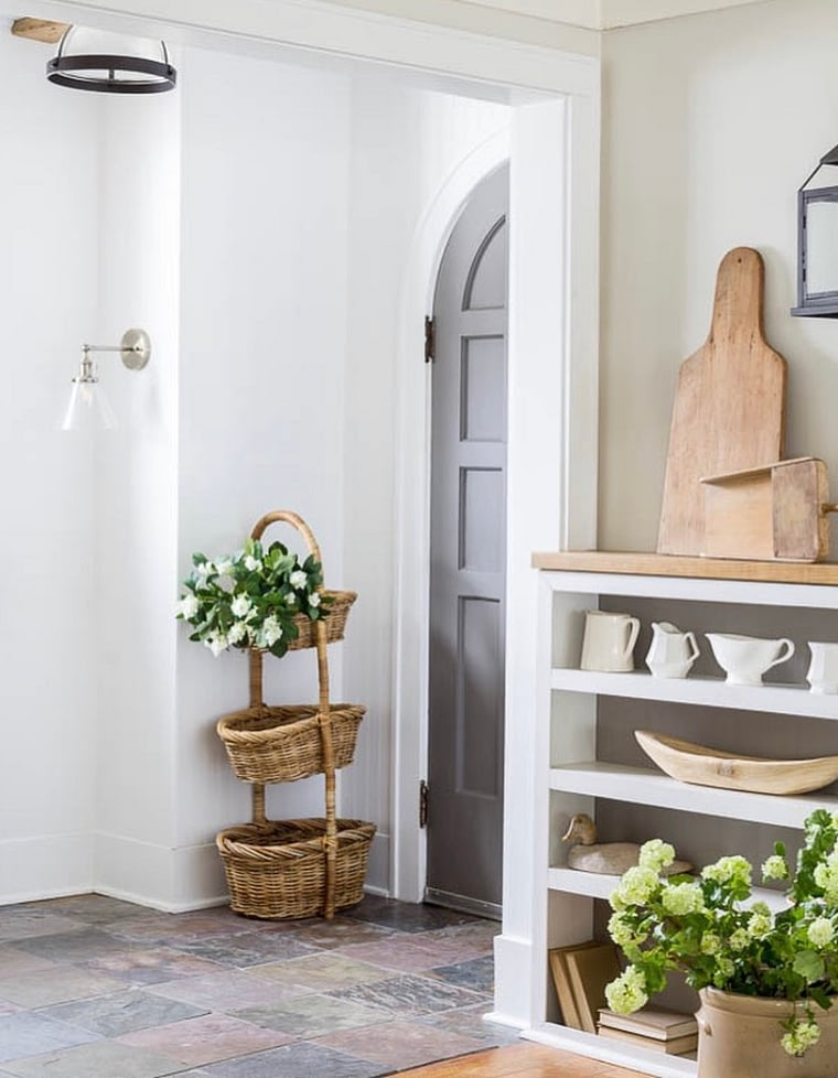charming english cottage front entry way