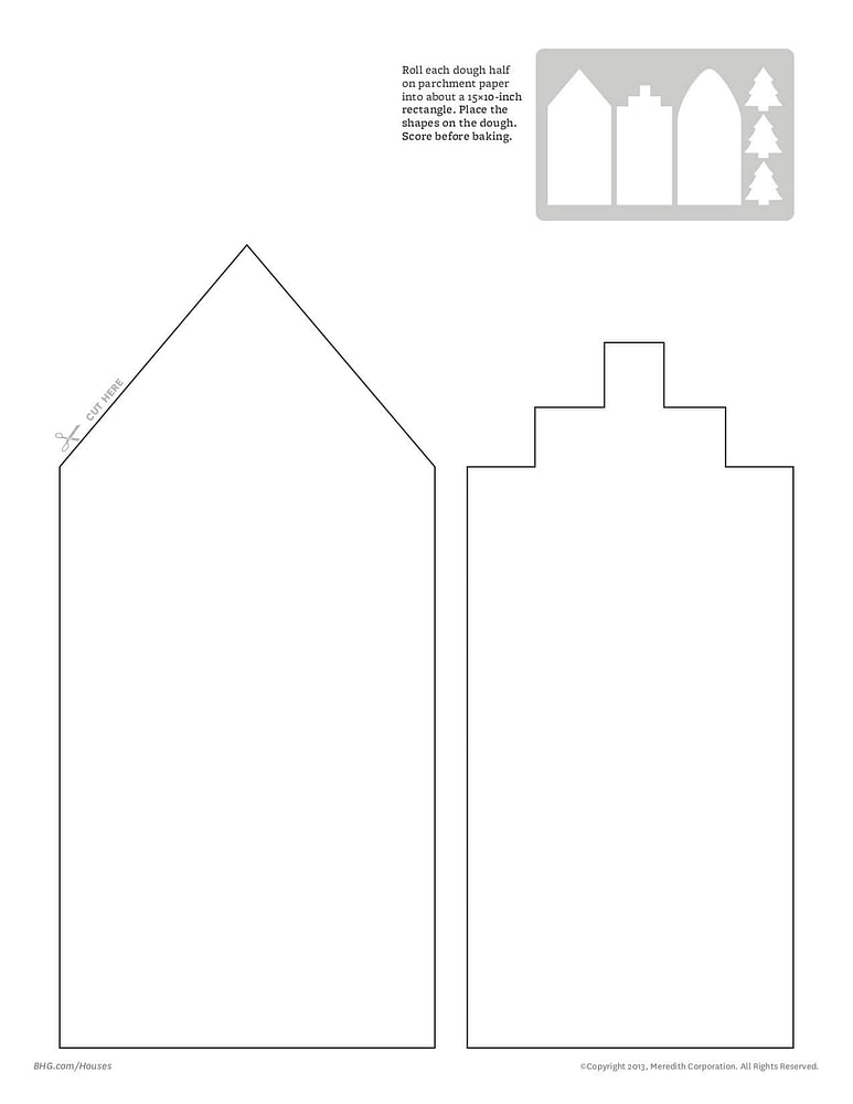 Gingerbread House City Template