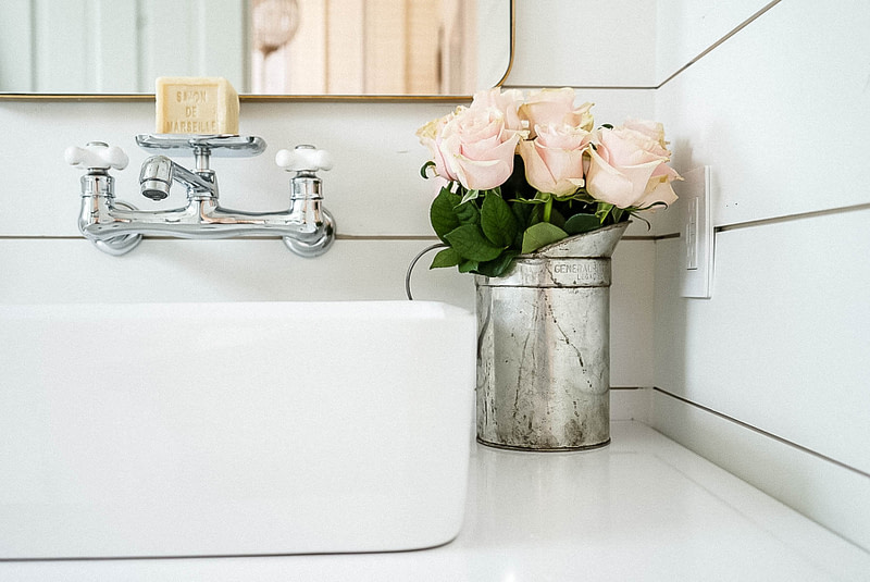 homemade-flower-food-pink-roses-polish-chrome-faucet