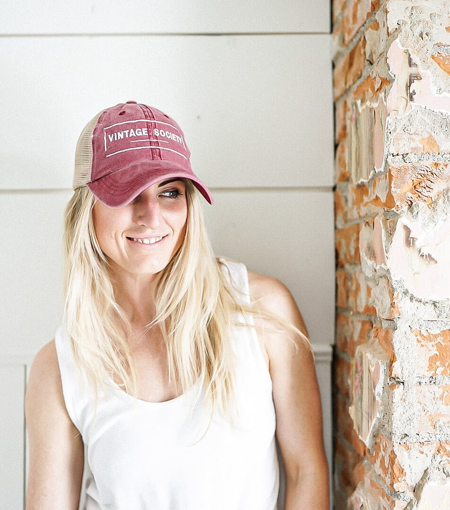 Dusty Rose Vintage Ball Cap perfect for Mothers Day Gifts