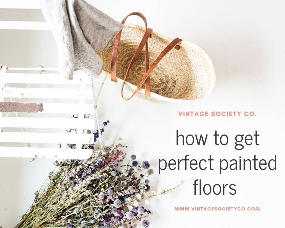 Perfect painted floors