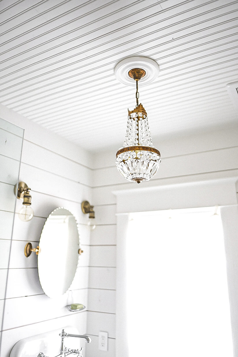 Bathroom french antique chandelier