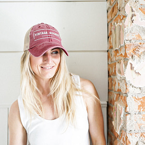 Dusty Rose Vintage Ball Cap