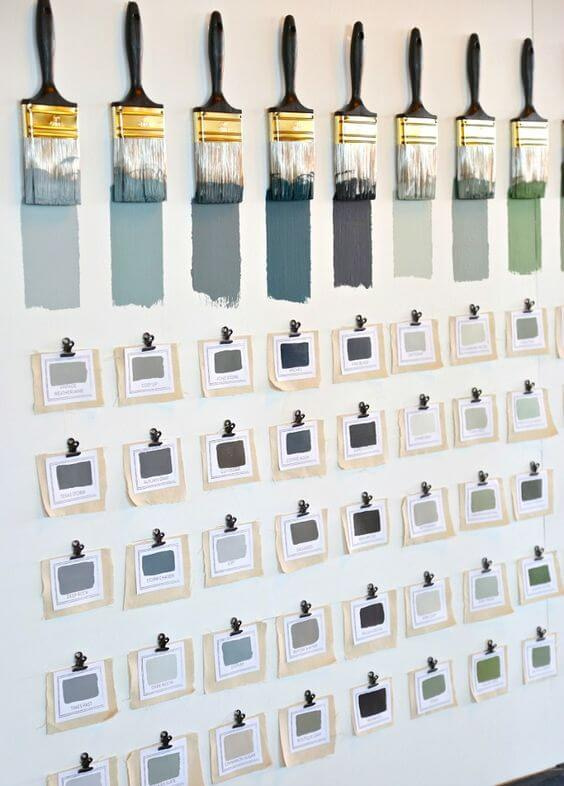 Paint Samples for home interiors