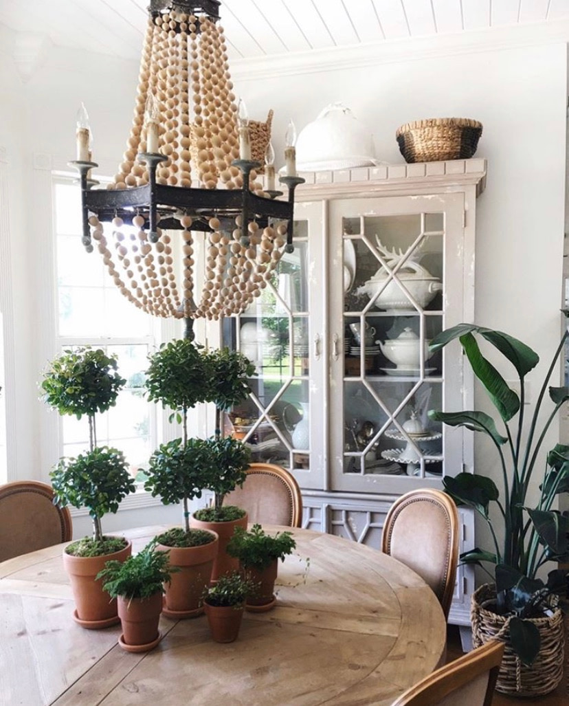 dinning room chandelier farmhouse kitchen hutch home deign